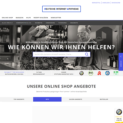 Deutsche Internet Apotheke Screenshot