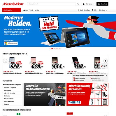 MediaMarkt Screenshot