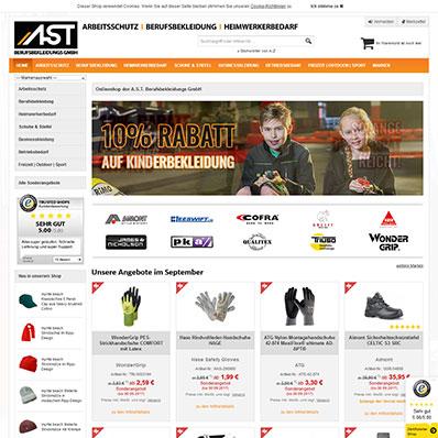 AST Berufsbekleidung Screenshot
