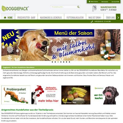 Doggiepack Hundefutter Screenshot