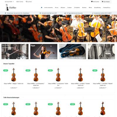Heffler Musikinstrumente Screenshot
