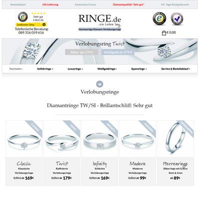 Ringe.de Screenshot