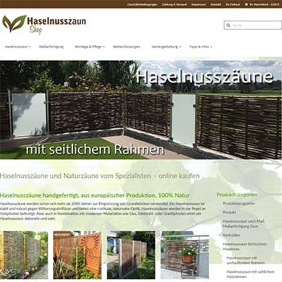 HaselnusszaunShop Screenshot