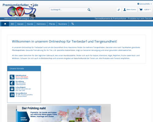 Premiumtierfutter Screenshot