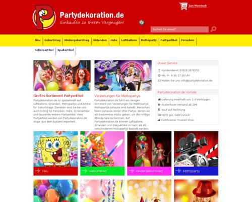 Partydekoration.de Screenshot