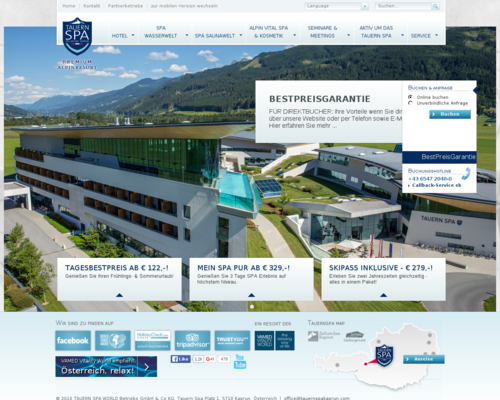 Tauern Spa Kaprun Screenshot