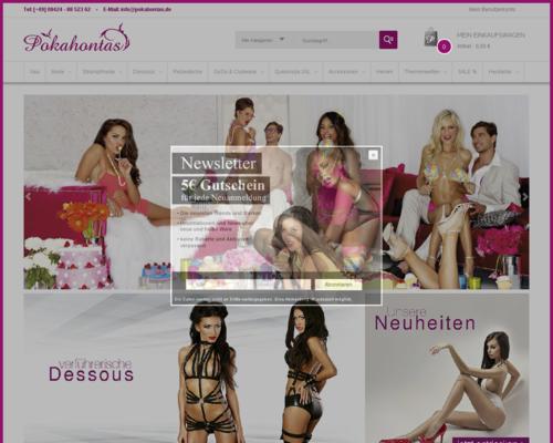 Pokahontas Shop Screenshot