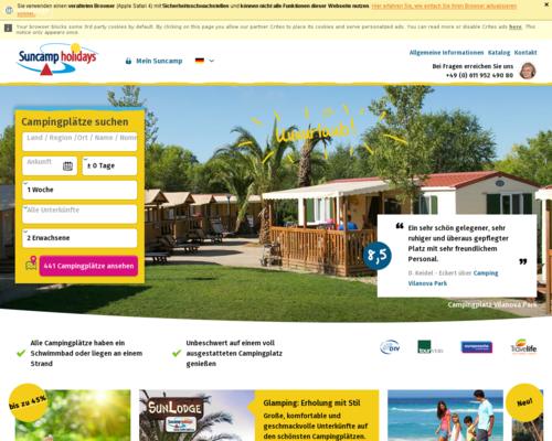 Suncamp Holidays Screenshot