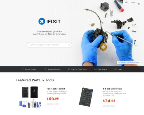 iFixit Screenshot