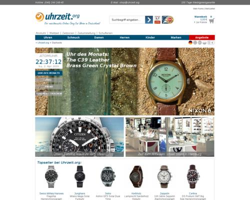 uhrzeit.org Screenshot