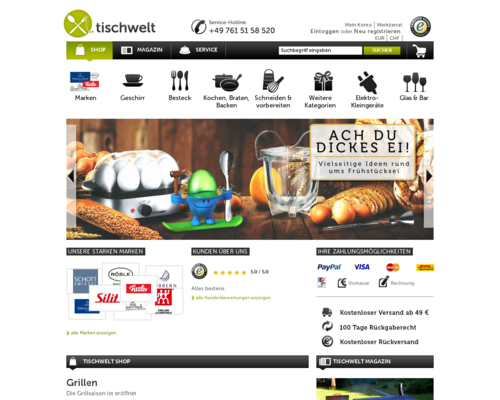 Tischwelt Screenshot