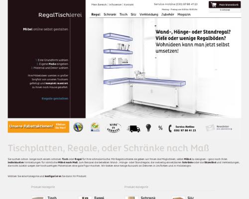 RegalTischlerei Screenshot