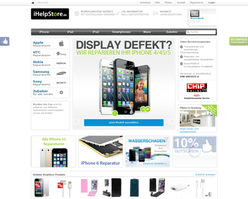 iHelpStore Screenshot