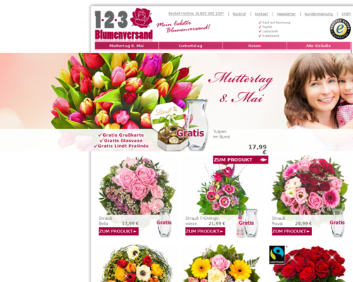 123 Blumenversand Screenshot