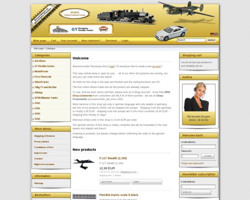 WSK Internetdienst Screenshot