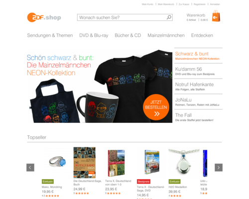 ZDF Shop Screenshot