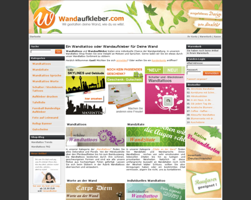 Wandaufkleber Screenshot
