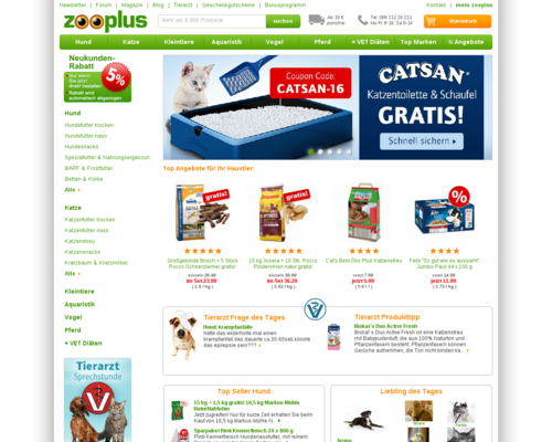 Zooplus Screenshot