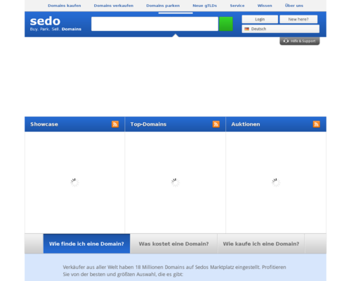 Sedo Screenshot