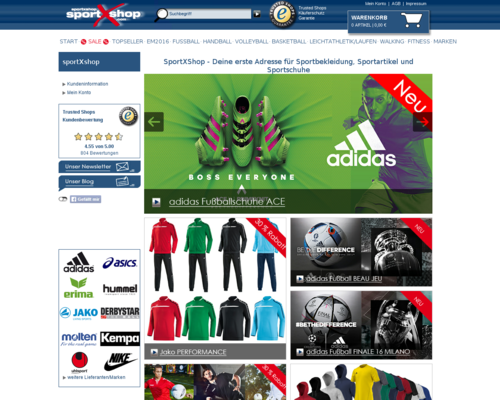 SportXshop Screenshot