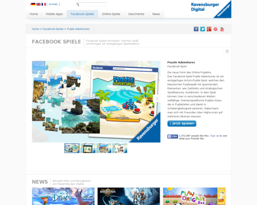 Ravensburger Webpuzzles Screenshot