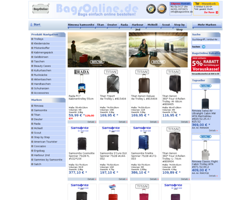 BagsOnline Screenshot