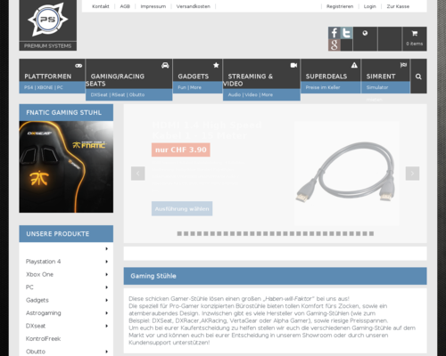 Premium Systems Screenshot
