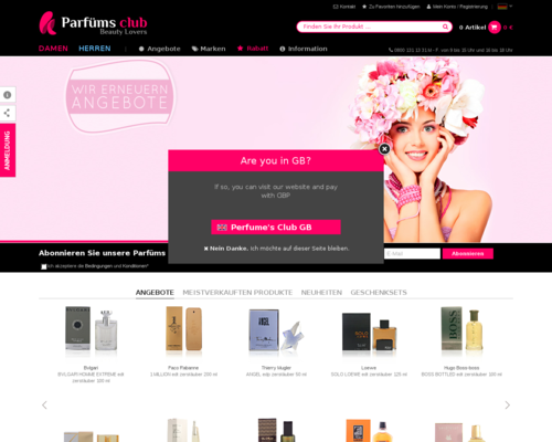 Parfumsclub Screenshot