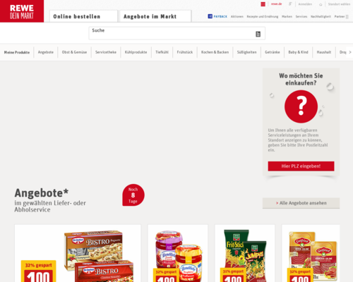 REWE Screenshot