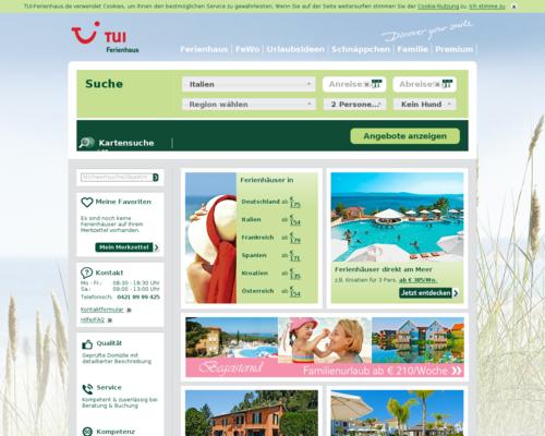 TUI Ferienhaus Screenshot