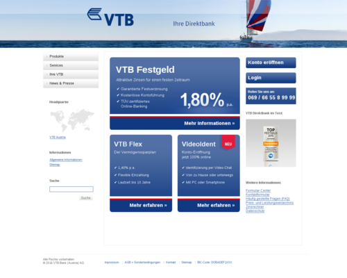 VTB Direktbank Screenshot