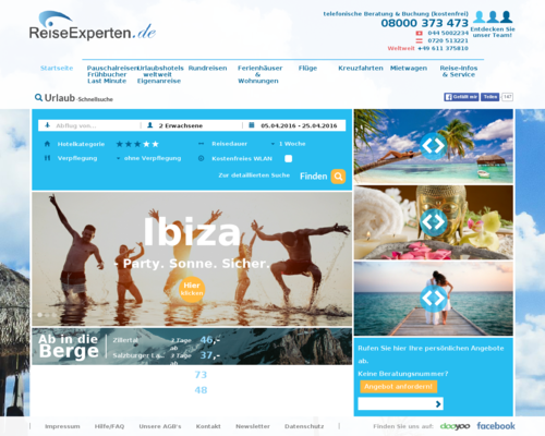ReiseExperten Screenshot