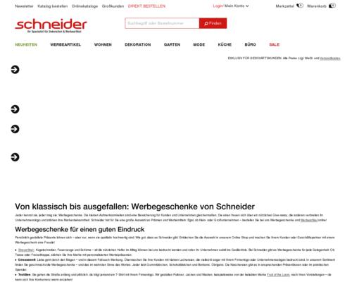 Schneider Screenshot