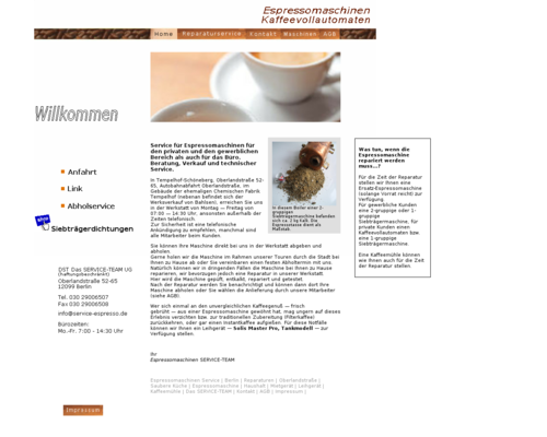 Service Espresso Screenshot