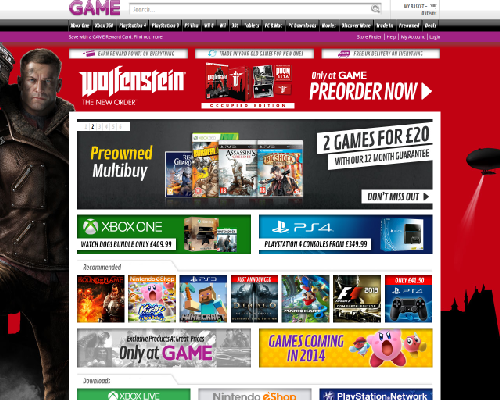 Game.co.uk Screenshot