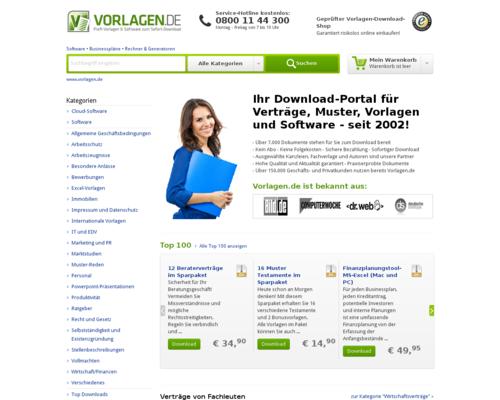 Vorlagen.de Screenshot
