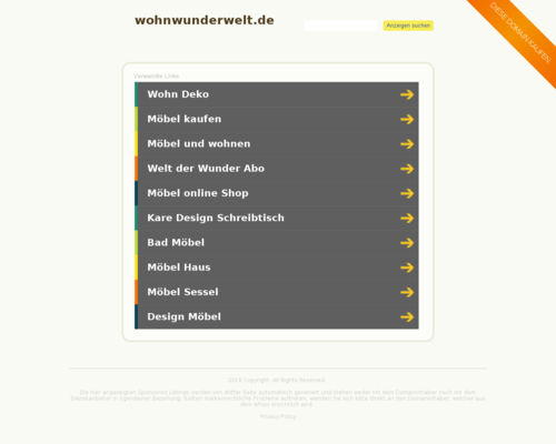 WohnWunderWelt Screenshot