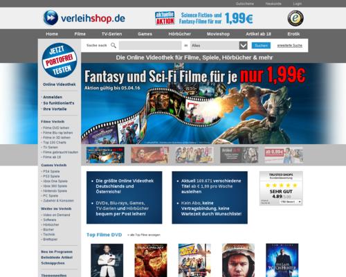 Verleihshop Screenshot