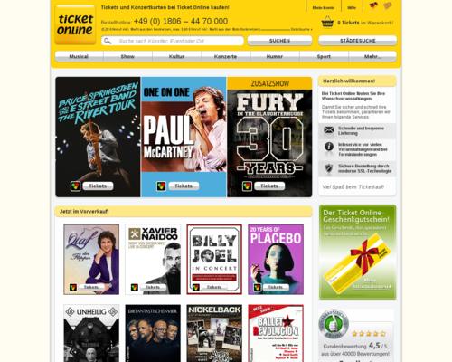 Ticket Online Screenshot