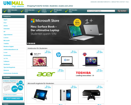 Unimall Screenshot