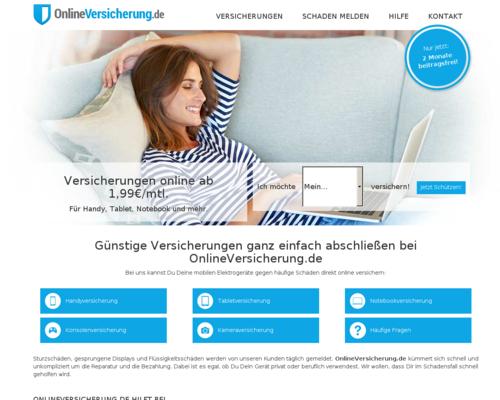 Onlineversicherung Screenshot