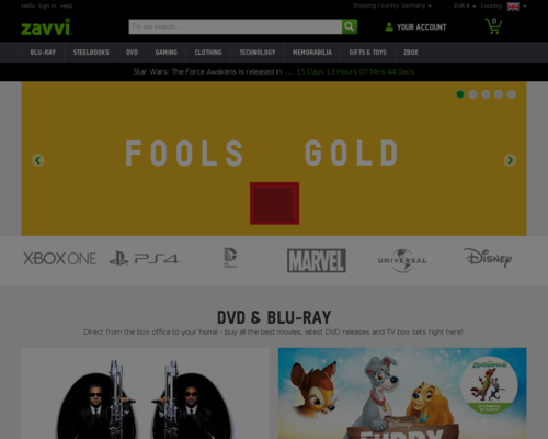 Zavvi Screenshot