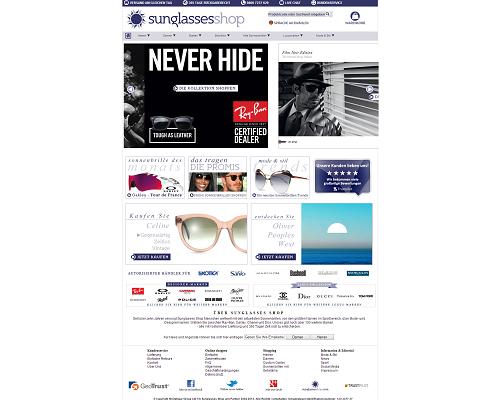 Sunglasses Shop Screenshot