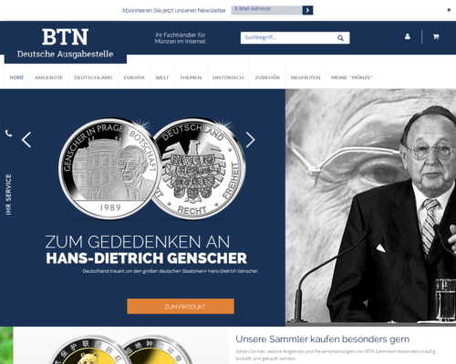 btn-muenzen.de Screenshot