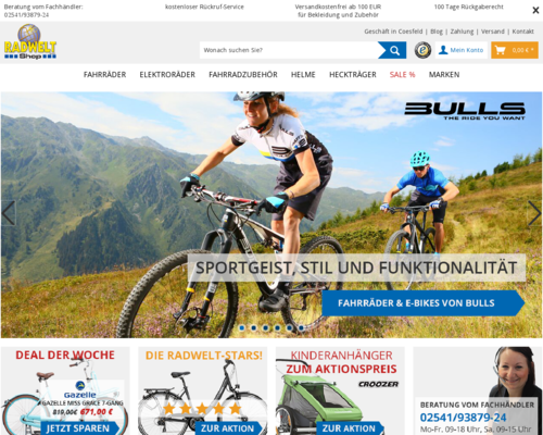 Radwelt-Shop Screenshot