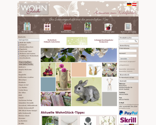 wohnglueck.com Screenshot