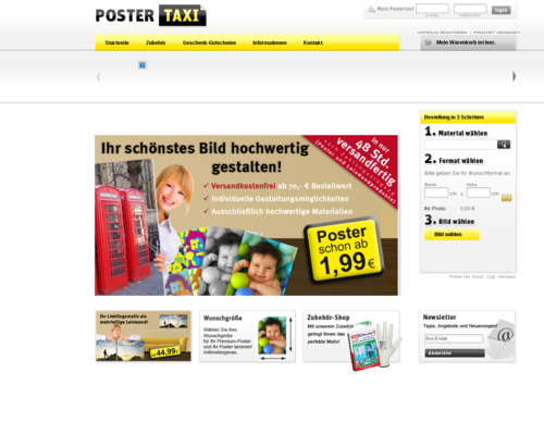 Postertaxi Screenshot