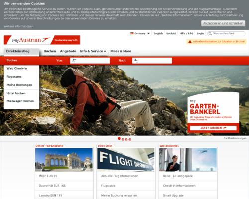 Austrian Airlines Screenshot