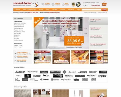 Laminat-Kontor.de Screenshot