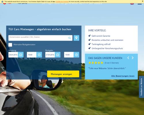 TUI Cars Screenshot